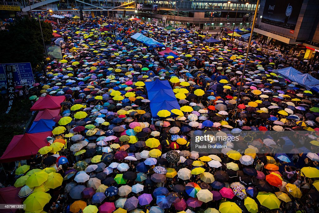 Hong Kong Students Stage A Rally To Mark One Month Since Protests Began : News Photo