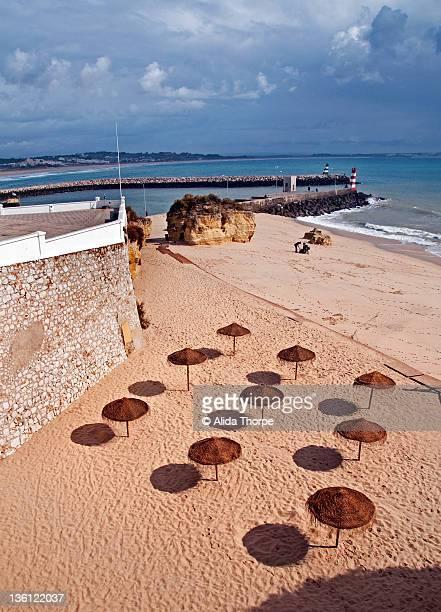 Umbrellas at Lagos, Portugal