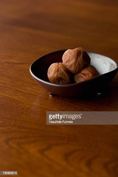 Umeboshi in bowl