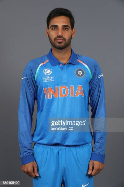 Umesh Yadavof India poses during an India Portrait Session ahead of ICC Champions Trophy at Grange City on May 27 2017 in London England