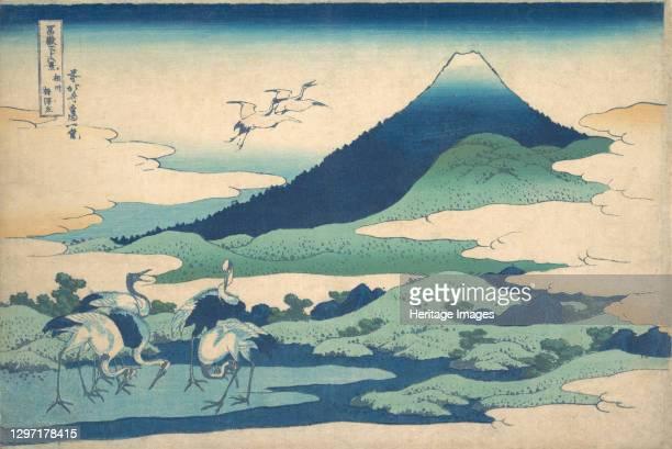 ?Umezawa Manor in Sagami Province,? from the series Thirty-six Views of Mount Fuji , circa 1830-32. Artist Hokusai.