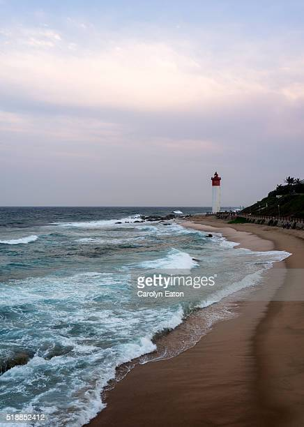 umhlanga rocks lighthouse, south africa - reed dance stock photos and pictures