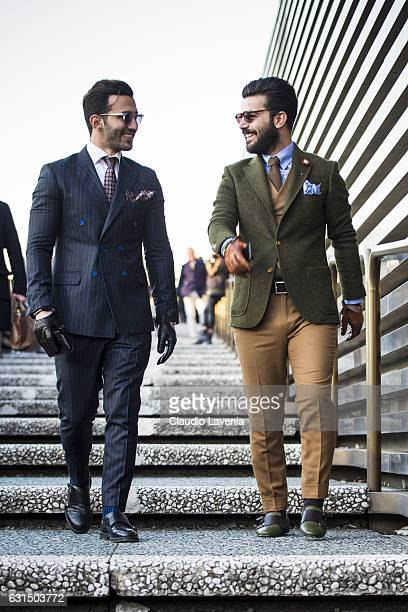 Umit Obeyd and Serhat Nayc are seen on January 11 2017 in Florence Italy