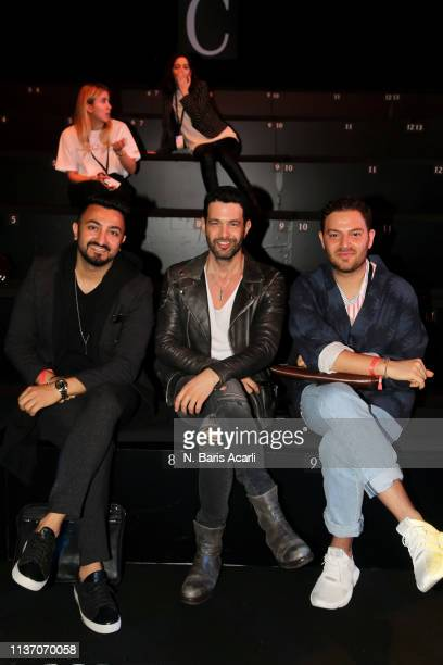 Umit Temurcin Keremcem and guests attend the MercedesBenz Fashion Week Istanbul March 2019 at Zorlu Center on March 20 2019 in Istanbul Turkey