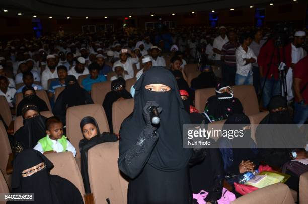 Umme Ayesha reacts in the protest programme of JamatUlemaEHind against verdict of supreme court to stop Triple Talaq system nationwide in Kolkata...