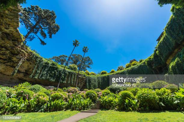 umpherston sinkhole - sinkholes stock pictures, royalty-free photos & images