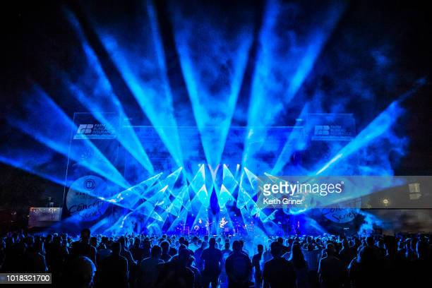 Umphrey's McGee at The Lawn at White River State Park on August 11 2018 in Indianapolis Indiana