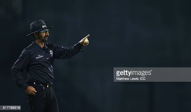 Umpire Anil Chaudhary in action during the Women's ICC World Twenty20 India 2016 match between England and Pakistan at Chidambaram on March 27, 2016...