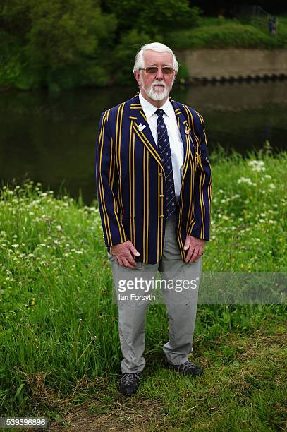 Umpire Barry Hudson waits for the start of racing during the 183rd annual regatta on the River Wear on June 11 2016 in Durham England The present...