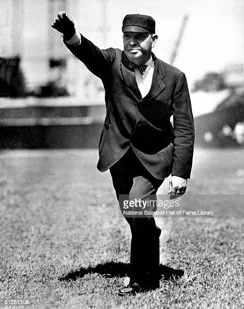Umpire Bill Klem poses for an action portrait circa 1920's Bill Klem called Major League games from 19051941 he is belived to be the first umpire to...