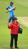 derby england umpire claire polosak signals