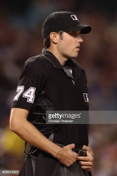 Umpire John Tumpane during the MLB game between the Chicago White Sox and the Arizona Diamondbacks at Chase Field on May 22 2017 in Phoenix Arizona...