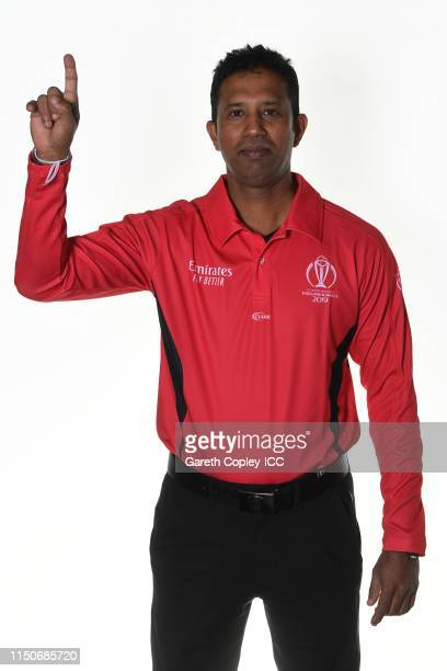 Umpire Kumar Dharmasena poses for a portrait prior to the ICC Cricket World Cup 2019 at on May 21, 2019 in London, England.