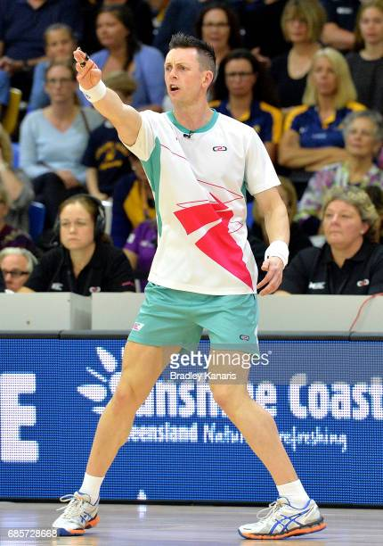 Umpire Marc Henning during the round 13 Super Netball match between the Lightning and the Swifts at University of the Sunshine Coast on May 20 2017...