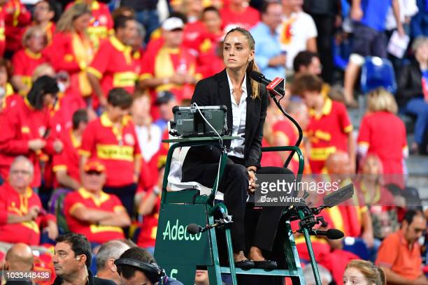 Umpire Marijana Veljovic during Day 1 of the Davis Cup semi final on September 14 2018 in Lille France