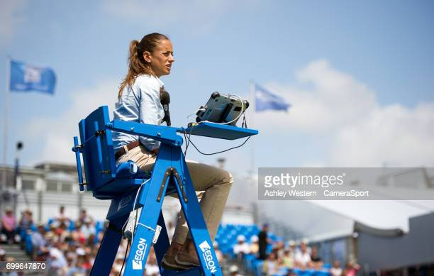 Umpire Marijana Veljovic during Day 4 of the Aegon Championships 2017 at Queens Club on June 22 2017 in London England