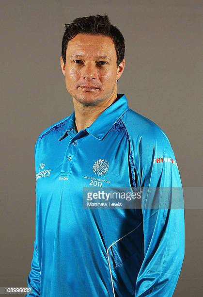 Umpire Richard Kettleborough poses during a portrait session ahead of the 2011 ICC World Cup at the ITC Gardenia on February 11 2011 in Bangalore...
