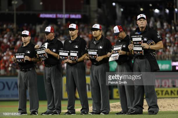 Umpires during the 89th MLB AllStar Game presented by Mastercard at Nationals Park on July 17 2018 in Washington DC