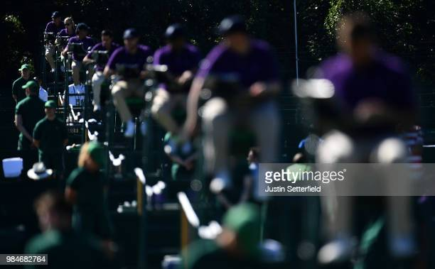 Umpires during Wimbledon Championships Qualifying - Day 2 at The Bank of England Sports Centre on June 26, 2018 in London, England.