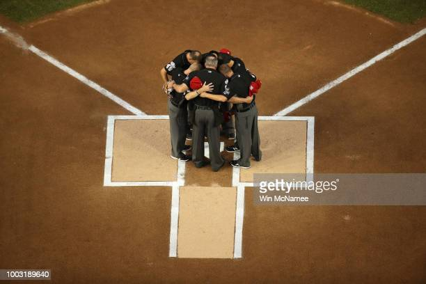 Umpires prior to the 89th MLB AllStar Game presented by Mastercard at Nationals Park on July 17 2018 in Washington DC