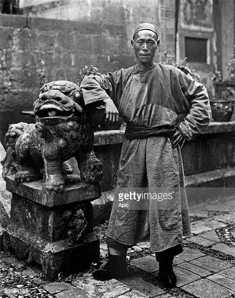 T'umu one of the Lo brothers of Maomaoshan c 1920 photo by reverend Harry Parsons