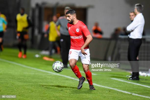 Umut Bozok of Nimes during the French Ligue 2 match between Nimes and Lorient at Stade des Costieres on April 24 2018 in Nimes France