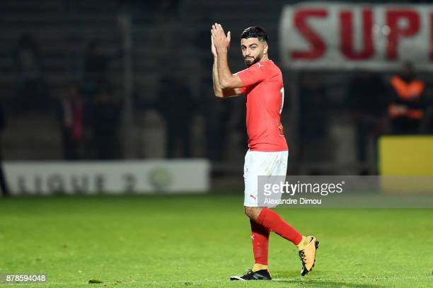 Umut Bozok of Nimes during the Ligue 2 match between Nimes and Bourg en Bresse at Stade des Costieres on November 24 2017 in Nimes France