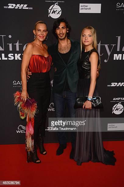 Umut Kekilli Natascha Ochsenknecht and Cheyenne Ochsenknecht attend the Michalsky Style Night at Tempodrom on July 11 2014 in Berlin Germany