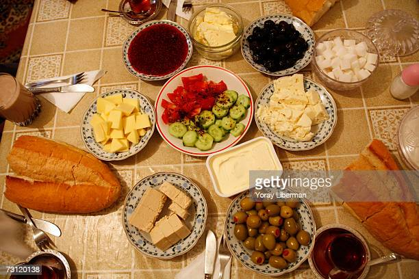 Umut Yazici eats breakfast at home before going to school on May 17 2006 in Istanbul Turkey