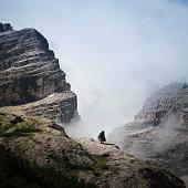 Un arbre solitaire dans les Dolomites
