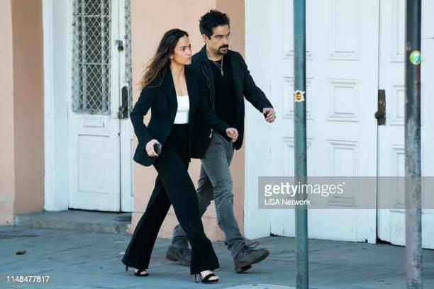 "Un Asunto de Familia"" Episode 402 -- Pictured: Alice Braga as Teresa Mendoza, Alfonso Herrera as Javier --"