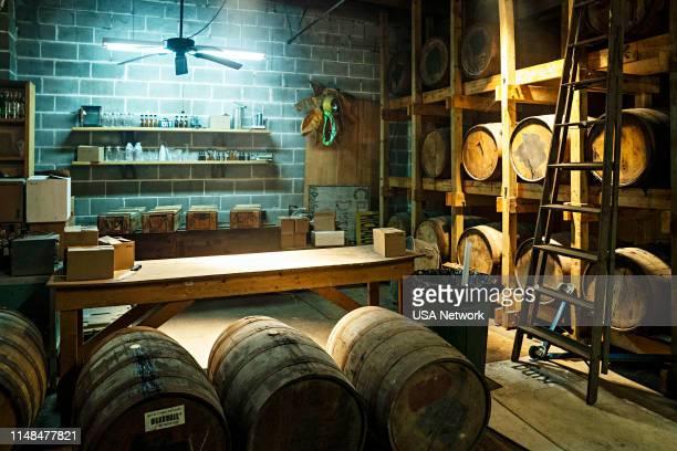 """Un Asunto de Familia"""" Episode 402 -- Pictured: Wine Cellar --"""