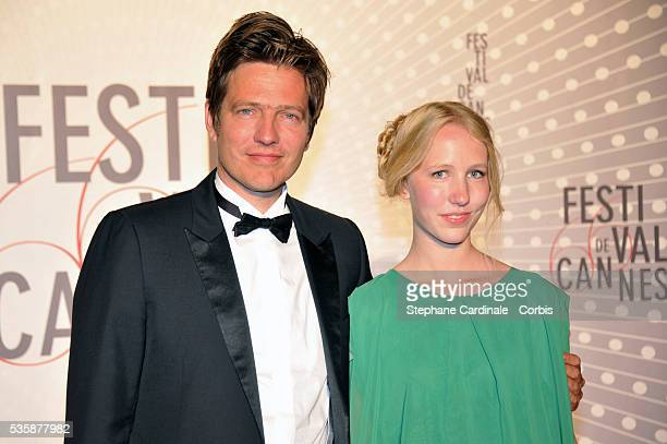 'Un Certain Regard' jury member Thomas Vinterberg and his daughter Nana attend the 'Palme D'Or Winners dinner' during the 66th Cannes International...