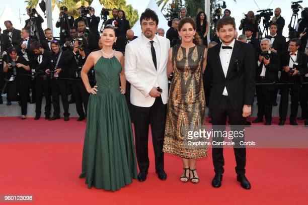 Un Certain Regard jury member Virginie Ledoyen president Benicio Del Toro with jury members Annemarie Jacir and Kantemir Balagov attends the Closing...