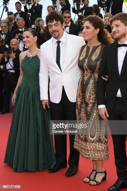 Un Certain Regard jury member Virginie Ledoyen Un Certain Regard president Benicio Del Toro with jury members Annemarie Jacir and Kantemir Balagov...