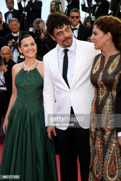 Un Certain Regard jury member Virginie Ledoyen Un Certain Regard president Benicio Del Toro with jury member Annemarie Jacir attend the Closing...