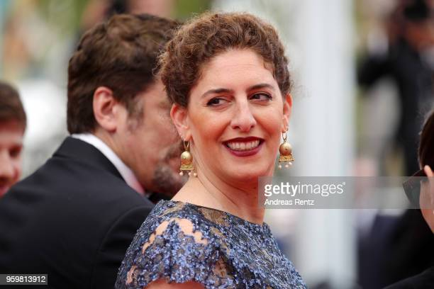 Un Certain Regard jury members Annemarie Jacir attends the screening of 'Ayka' during the 71st annual Cannes Film Festival at Palais des Festivals on...