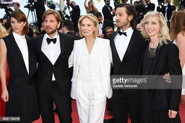 Un Certain Regard jury members Celine Sallette Ruben Oestlund Marthe Keller Diego Luna and Jessica Hausner attend the Elle Premiere during the 69th...