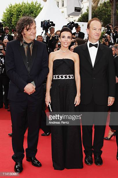 Un Certain Regard Jury members Emir Kusturica Elodie Bouchez and Peter Bradshaw attend the 'Sleeping Beauty' photocall during the 64th Annual Cannes...