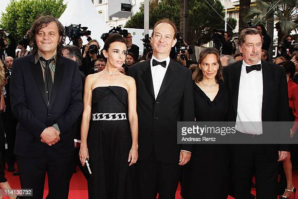 Un Certain Regard Jury members Emir Kusturica Elodie Bouchez Peter Bradshaw Daniela Michel and Geoffrey Gilmore attend the 'Sleeping Beauty'...