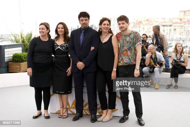 Un Certain Regard jury members Julie Huntsinger Virginie Ledoyen Un Certain Regard president Benicio Del Toro jury members Annemarie Jacir and...