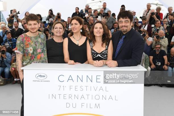 Un Certain Regard jury members Kantemir Balagov Julie Huntsinger Annemarie Jacir Virginie Ledoyen and Un Certain Regard president Benicio Del Toro...