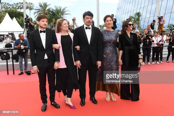 Un Certain Regard jury members Kantemir Balagov Julie Huntsinger Un Certain Regard president Benicio Del Toro with jury members Annemarie Jacir and...