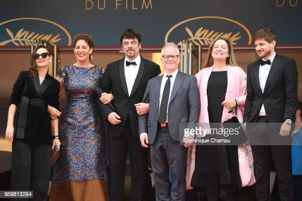 Un Certain Regard jury members Virginie Ledoyen Annemarie Jacir Un Certain Regard president Benicio Del Toro with Cannes Film Festival Director...