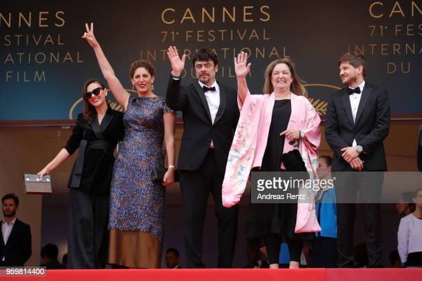 Un Certain Regard jury members Virginie Ledoyen Annemarie Jacir Un Certain Regard president Benicio Del Toro with jury members Julie Huntsinger and...