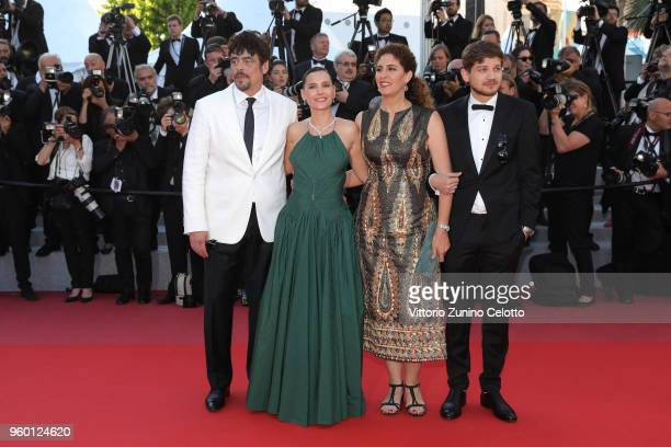 Un Certain Regard jury president Benicio Del Toro and jury members Virginie Ledoyen Annemarie Jacir and Kantemir Balagov attend the Closing Ceremony...