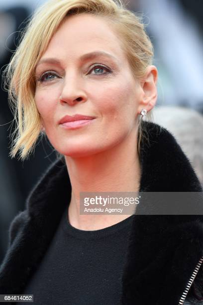 Un Certain Regard' jury President Uma Thurman arrives for the screening of the film 'Nelyubov' in competition at the 70th annual Cannes Film Festival...