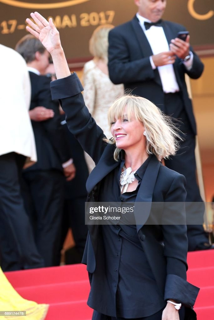 Un Certain Regard jury president Uma Thurman attends the 'Based On A True Story' screening during the 70th annual Cannes Film Festival at Palais des Festivals on May 27, 2017 in Cannes, France.