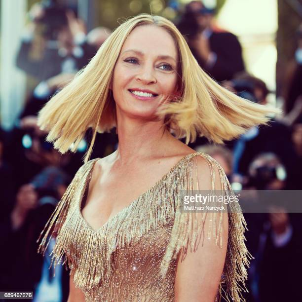 Un Certain Regard jury president Uma Thurman attends the Closing Ceremony of the 70th annual Cannes Film Festival at Palais des Festivals on May 28...