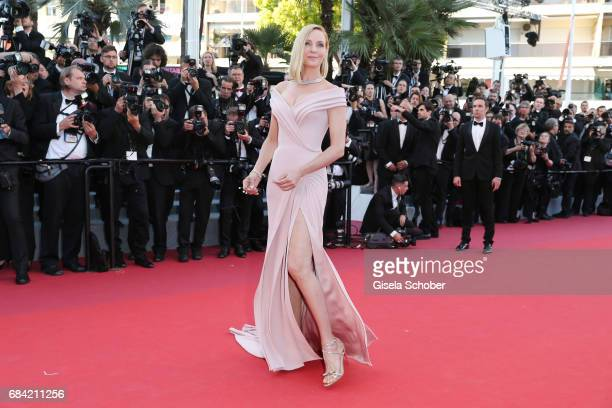 Un Certain Regard jury president Uma Thurman attends the Ismael's Ghosts screening and Opening Gala during the 70th annual Cannes Film Festival at...